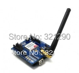 2016 Factory wholesaler SIM900 GSM GPRS shield for IComSat v1.1 GSM GPRS shield FREE SHIPPING gsm gprs sim900 module icomsat expansion board w antenna cable for arduino blue black