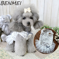 BENMEI Summer Princess Wedding Dress Dog Chihuahua Clothes Cute White Lace Dog Puppy Luxury Dress Pet