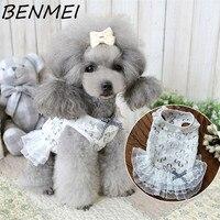 Benmei الصيف الأميرة فستان الزفاف الكلب تشيهواهوا الملابس لطيف الدانتيل الأبيض اللباس القط الكلب جرو الفاخرة توتو تنورة