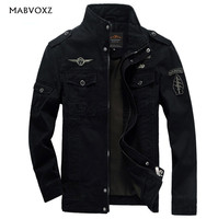 Men Military Army jackets plus size 6XL Brand 2019 Hot cost outerwear embroidery mens jacket for militare