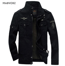 Фотография Brand men jacket plus size 6XL aeronautica militare  new arrival military cost air army one outerwear sports embroidery jackets