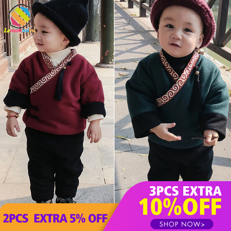 Lemonmiyu Chinese Style Kids Cotton Sets Casual V-Neck Single Button Baby Vintage Suits Children Chinese Knot Spring OutfitsLemonmiyu Chinese Style Kids Cotton Sets Casual V-Neck Single Button Baby Vintage Suits Children Chinese Knot Spring Outfits