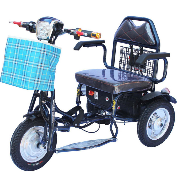 Electric tricycle tricycle for the disabled elderly for Motorized scooters for the elderly