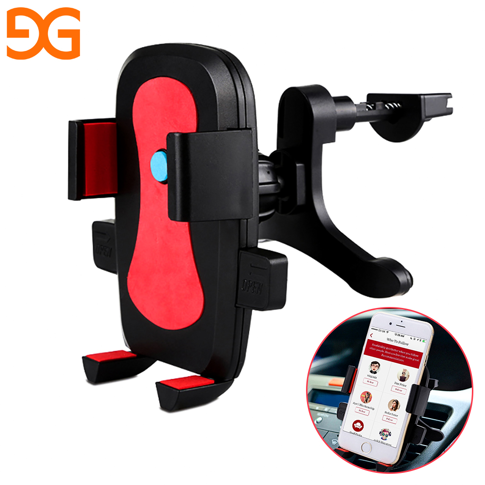 GUSGU Car Phone Holder Air Vent Mobile Phone Outlet bracket Multi-function Stand for iPhone Samsung GPS Mount Holder