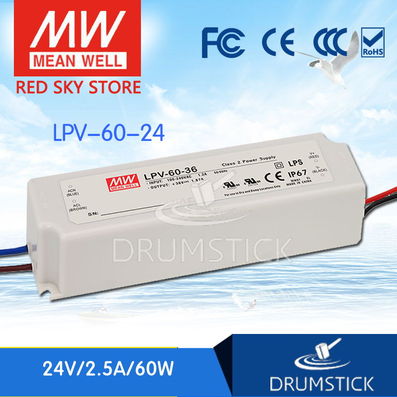 (Only 11.11)MEAN WELL LPV-60-24 (5Pcs) 24V 2.5A meanwell LPV-60 60W Single Output LED Switching Power Supply(Only 11.11)MEAN WELL LPV-60-24 (5Pcs) 24V 2.5A meanwell LPV-60 60W Single Output LED Switching Power Supply