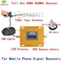 850 Сотовая связь повторитель сигнала CDMA 850 мГц мобильного сигнала Усилители домашние 70db GSM 850 сотовый телефон ракета носитель Полный комплек