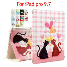 PU Leather Case Cover For iPad Pro 9.7 inch Slim Print Protective Stand For Apple iPad Pro 9.7 Tablet Smart Fundas Dormancy Skin
