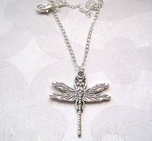 50pcs Tibetan silver *ART DECO DRAGONFLY* Ditsy Necklace SP 18 INCH chain XMAS GIFT Vintage Style XA16