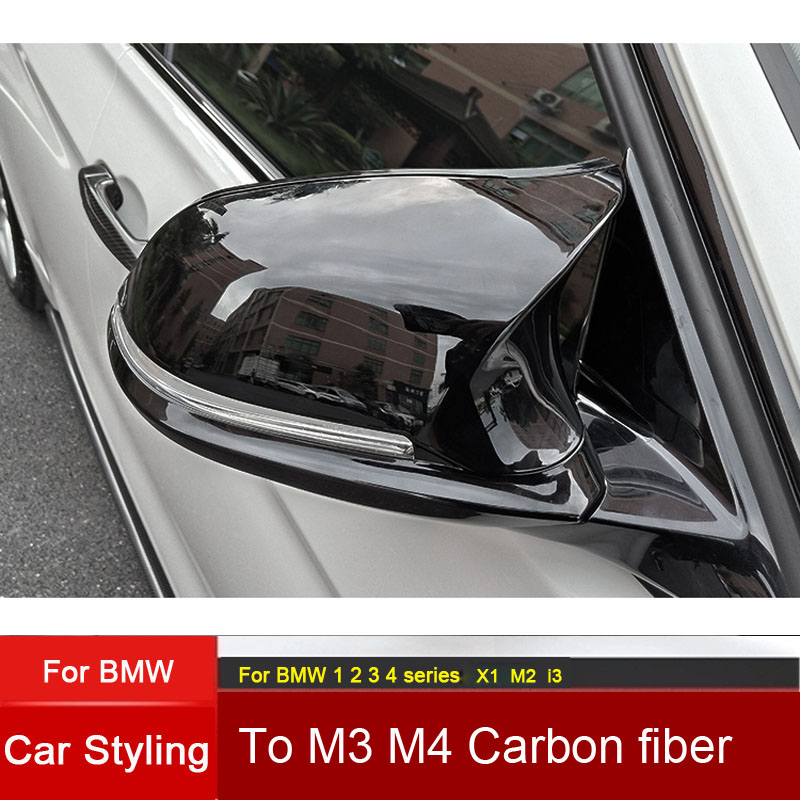 For BMW 1 2 3 4 series F20 F21 F22 F23 F30 F31 F32 F33 F34 F35 E84 Replacement Carbon Fiber Mirror Assembly Covers Caps Shell in Mirror Covers from Automobiles Motorcycles
