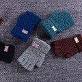 Я ЛЮБЛЮ Соединенное Королевство мужская Зима Перчатки Без Пальцев 5 Цветов Наручные Рукавицы Guantes Luvas Руки Теплые Открытый Перчатки грех dedos