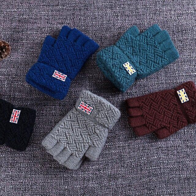 Realby I Love United Kingdom Mens Winter Fingerless Gloves 5 Colors