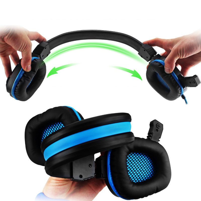Hifi Stereo Bass Gaming Headphone Noise Canceling with Mic LED Light Game Headset+7 Buttons 5500 DPI Pro Gaming Mouse Gift