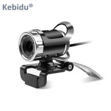 Kebidu USB веб-камера 360 градусов веб-камера HD веб-камера с микрофоном для компьютера Skype Youtube ПК ноутбук камера для ноутбука