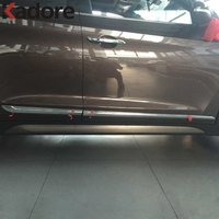 For Hyundai Tucson 2016 2017 SUV ABS Chromed Side Door Body Molding Streamer Cover Trim Door