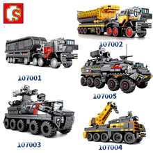 Sembo The Wandering Earth technic city  Military Transport vehicle Childrens Building Blocks Toys figures Bricks