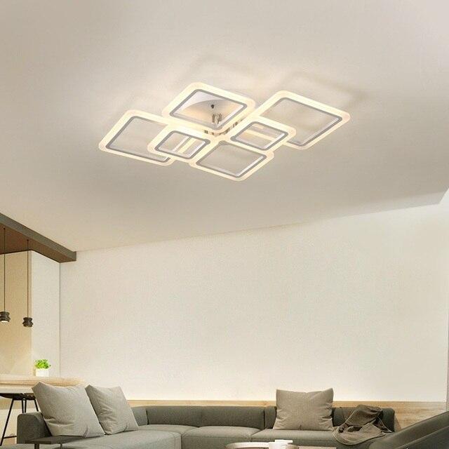 Lighting Deluxe modern acrylic led ceiling light overhead frame large deluxe ceiling
