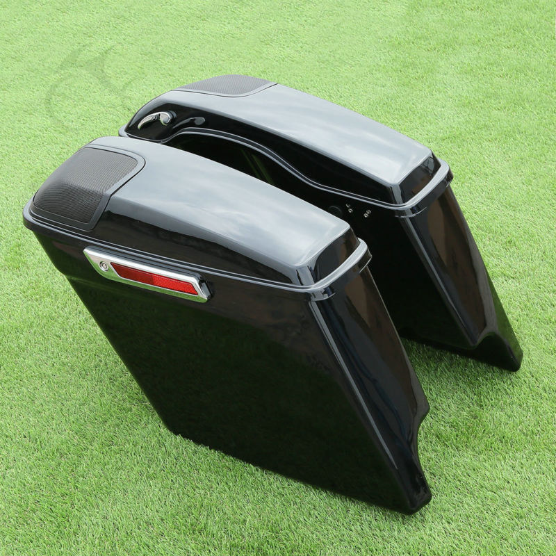 5 Extended Stretched Saddlebags Speaker Grill For Harley Touring 2014-18 17FLHT FLHX Road King Road Street Glide Ultra-Classic