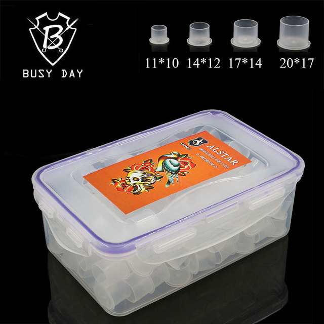 Disposables Tattoo Ink Cups Brand Sterile Self-standing Ink Caps Four Size Tattoo Accessories For