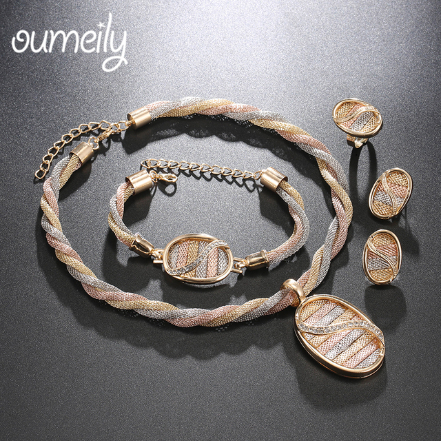 Aliexpresscom Buy OUMEILY African Jewelry Sets Cheap Fashion