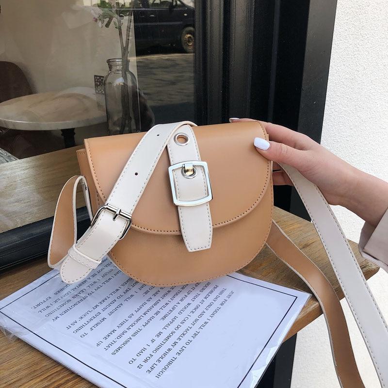 2019 New Women Mini PU Leather Crossbody Bags Shoulder Bag Designer Fashion Handbags brief Female Messenger Bag Phone beach Bags in Shoulder Bags from Luggage Bags