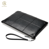 AHRI NEW 2017 Men Business Casual Bag For Male Bag Black Soft PU Leather Men S