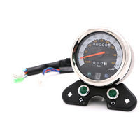 Universal Motorcycle Speedometer Odometer Gauge ATV Bike Scooter Backlit Dual Speed Meter With LED Indica For