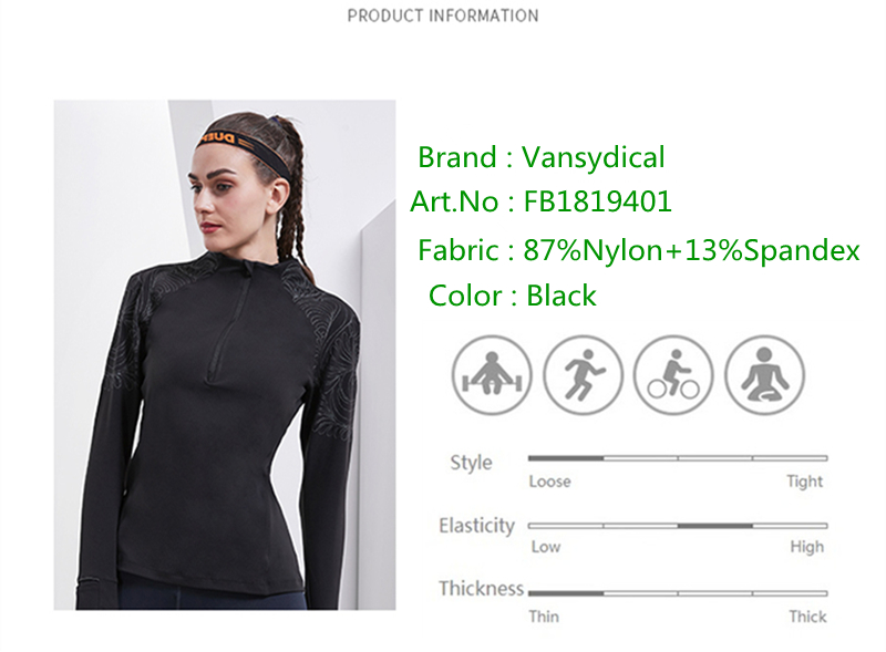 8645df40287499 Vansydical Running Jacket For Women Yoga Zipper Long Sleeve Women Sport  Jacket Fitness Ladies Hoodies Sports Womens Clothing