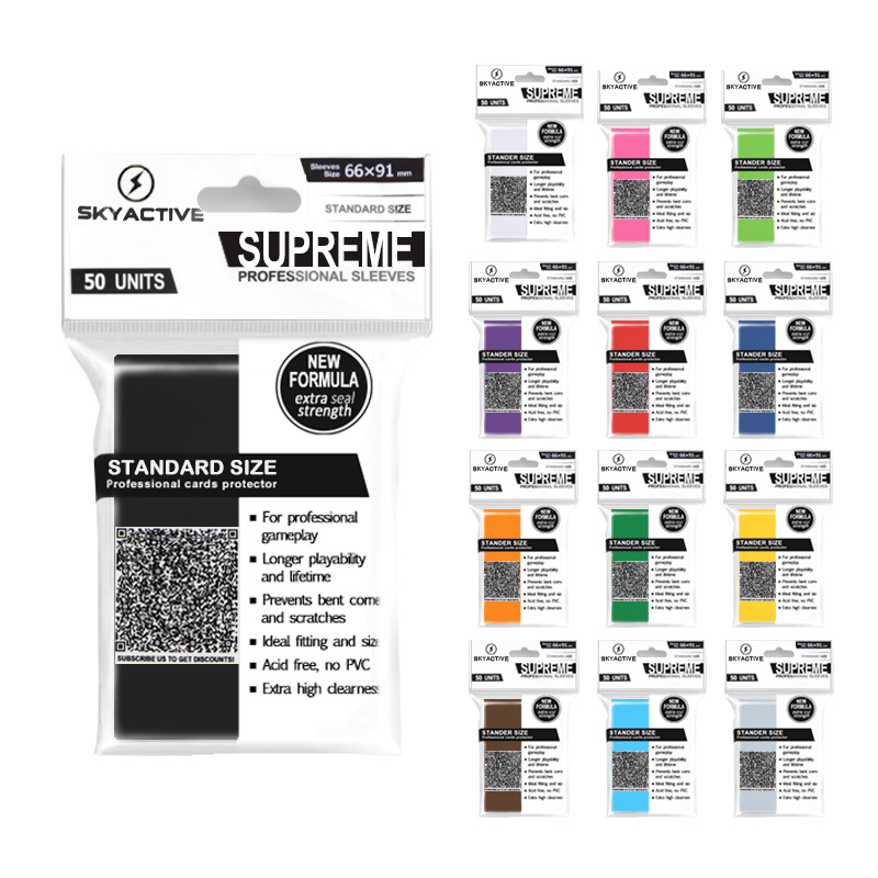 100 PCS/SET Matt Peeling Bunte Rücken Karte Ärmeln Karten Protector für Bord Spiel Karten Magie die Versammlung Yugioh pokemon