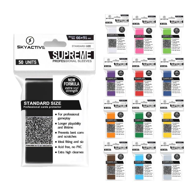 100 PCS/ENSEMBLE Mat Gommage Coloré Dos Carte Manches Cartes Protecteur pour Jeu de société Cartes Magic the Gathering Yugioh Pokemon