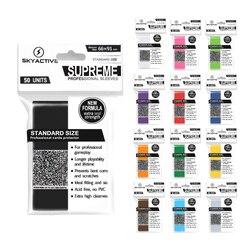 100 pçs/set matte scrub colorido backs cartão mangas cartões protetor para cartões de jogo tabuleiro magia a reunião yugioh pokemon