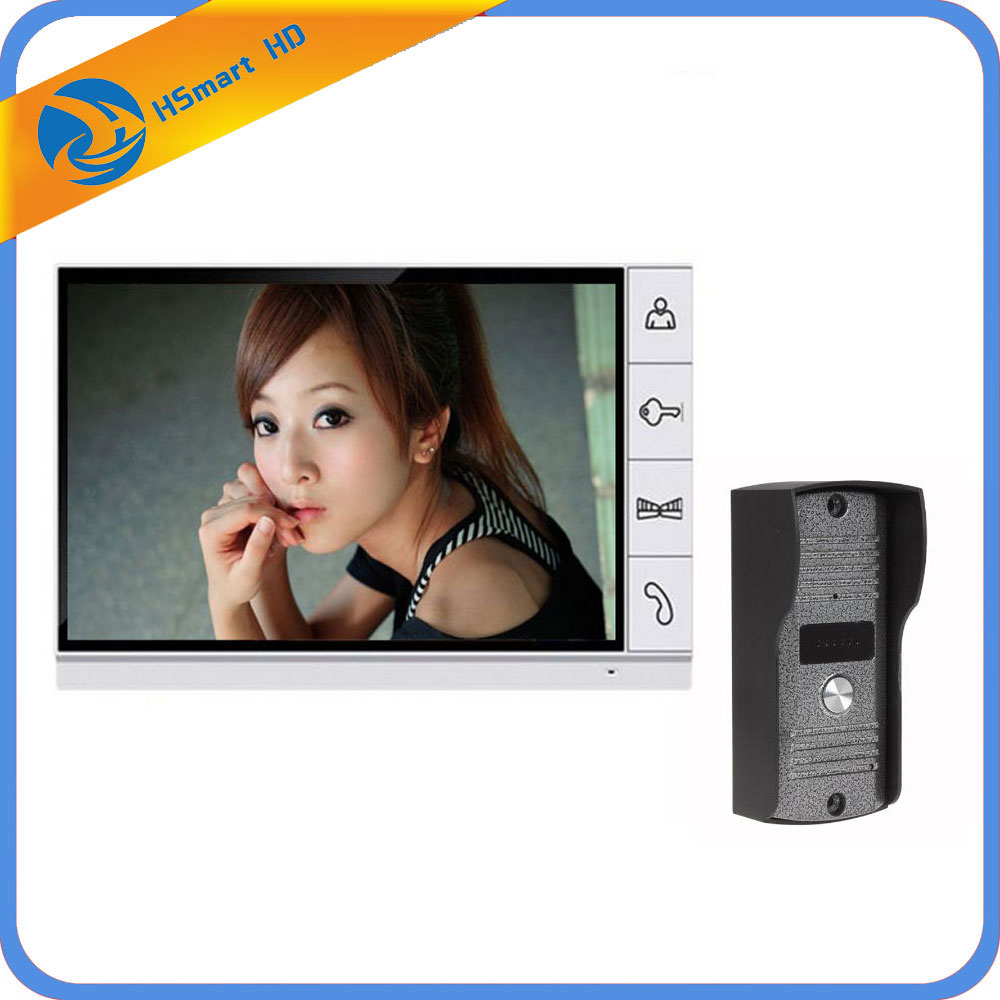 FREE SHIPPING Home Security 9 inch TFT LCD Monitor Video Door phone Intercom System With Night Vision Outdoor Camera IN STOCK brand new wired 9 inch lcd tft video intercom door phone system night vision outdoor camera two white screens free shipping