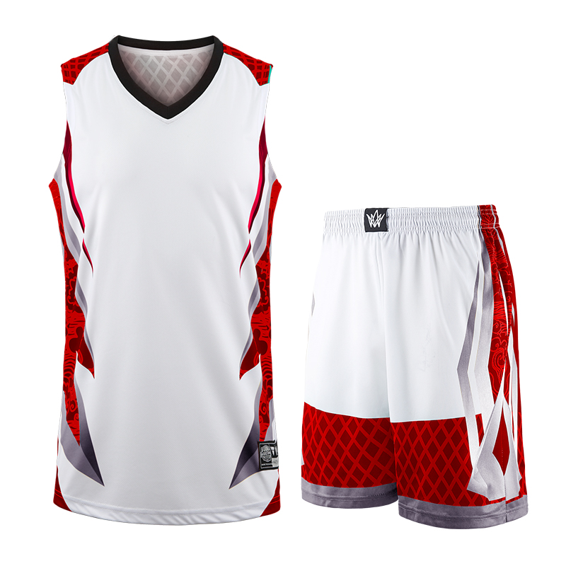 Men Basketball Training Jersey Set Tracksuits Breathable Sport Basketball