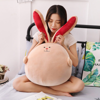 Dropshipping 2019 New arrival peluches super soft bunny pillow cushion stuffed rabbit animal doll plush toy for kids children