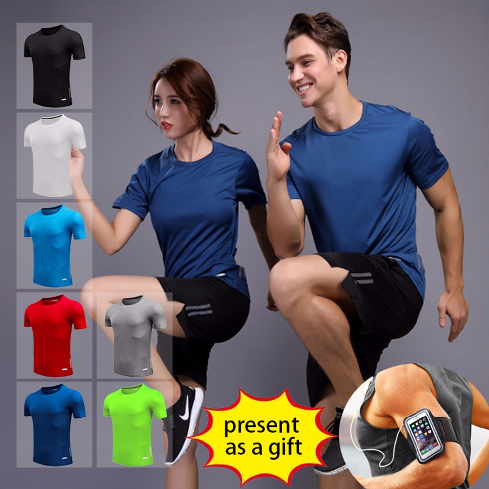 Back To Search Resultshome Brilliant Group Marathon Outdoor Sports Fitness Clothing Fast Dry T-shirt Suit Night Running Clothing Short Sleeve Loose Training