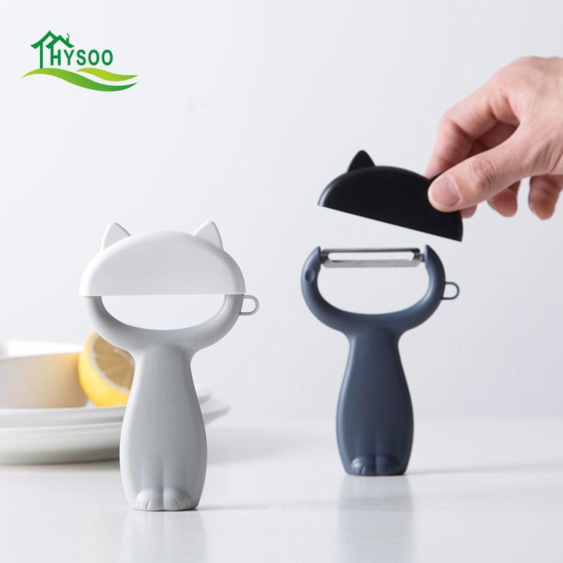 Steel Potato Household Shaving Planer Fruit Peeler Cartoon Cat Peeling Kitchen