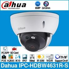 Dahua IPC HDBW4631R S 6MP IP Camera POE Camera CCTV Support IK10 IP67 POE SD Card Slot Upgrade From IPC HDBW4431R S Onvif