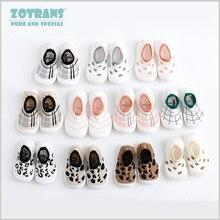Обувь для маленьких девочек и мальчиков; мягкие удобные детские летние носки-тапочки с леопардовым принтом; обувь для первых шагов; нескользящие носки; обувь для малышей