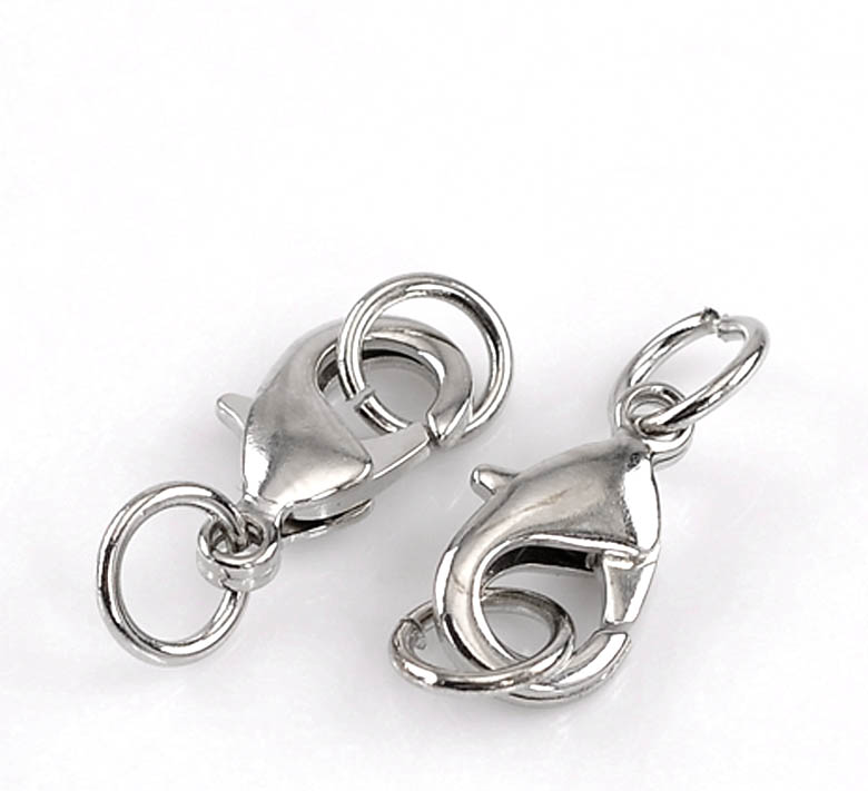 DoreenBeads Zinc Metal Alloy Lobster Clasp Silver Tone 24mm(1