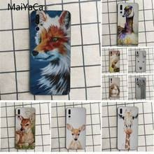 MaiYaCa Cute animal deer fox rabbit duck Soft Rubber Black Phone Case For Huawei honor 9 10 7s 8 p20 Cell phone case(China)