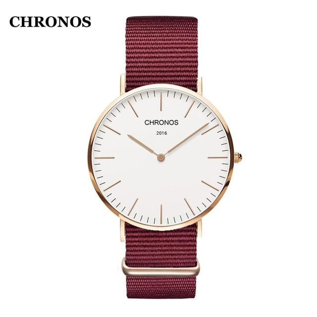 Chronos Watches Men Simple Design Quartz Wirst Watch Luxury Leather Strap Women