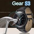 Alta calidad resistente a los arañazos protector de pantalla de cristal film para samsung gear s3 smart watch (3 paquetes)