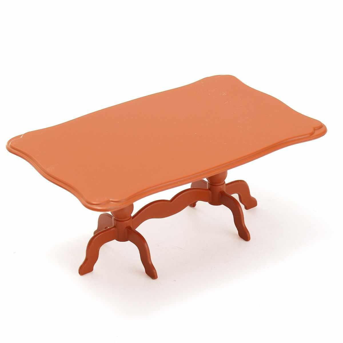 DIY Прекрасный мини Мебель Куклы дом Миниатюрный обеденный стол стул набор Для детей подарок Игрушечные лошадки Куклы дом Интимные аксессуары Наборы