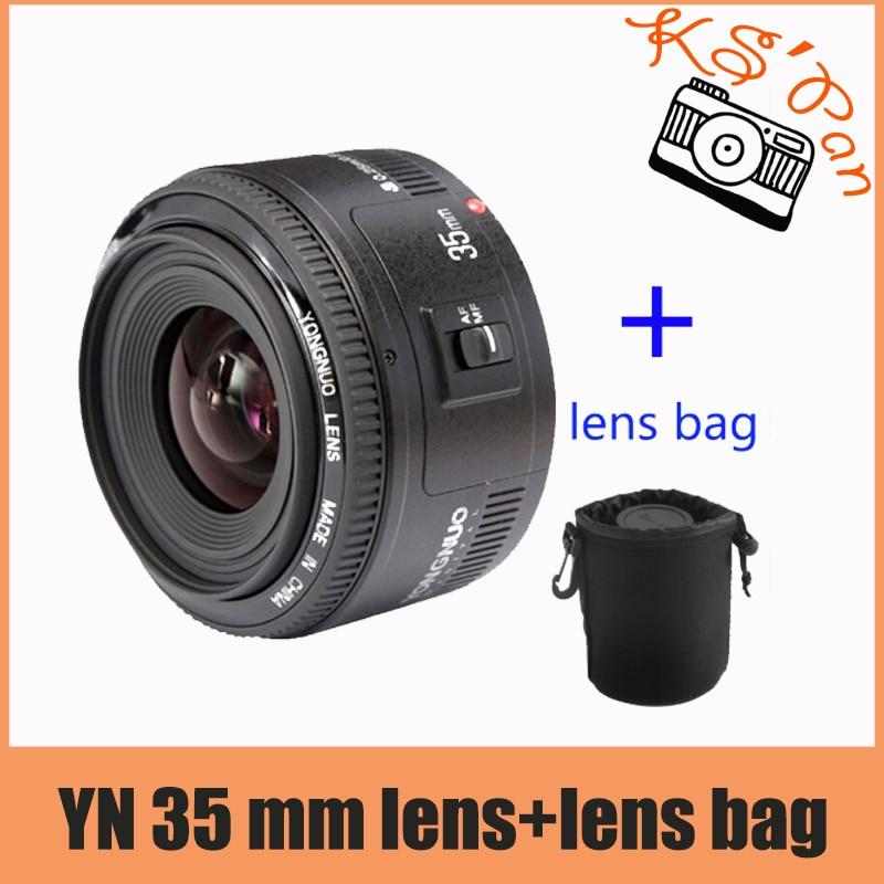 Yongnuo 35mm lens YN 35mm F2 lens Wide-angle Large Aperture Fixed Auto Focus Lens For canon yongnuo yn35mm af mf fixed focus camera lens f2n f2 0 wide angle f mount for nikon d7200d7100 d300 d5500 d500 dslr free lens bag