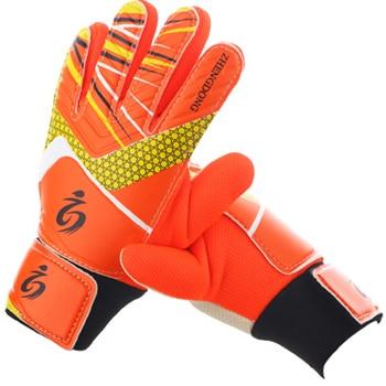 Kid's soccer goalkeeper gloves guantes de portero for children 5-16 years old soft goalkeeper gloves children riding scooters sp 7