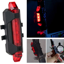Bike Bicycle Light LED Rechargeable Tail USB Rear Warning Safety Super Bright Portable Flash