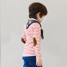 Kids Long Sleeve Striped Cotton T-shirt Children Clothing Baby Boys Girls Spring Autumn Tops Tees  Infant Casual Clothes