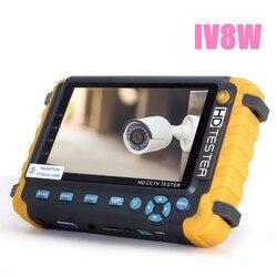 Модернизированный HD CCTV тестер IV8W IV7W 5MP 4MP AHD TVI CVI CVBS Аналоговый тестер камеры безопасности монитор с PTZ UTP кабель тест
