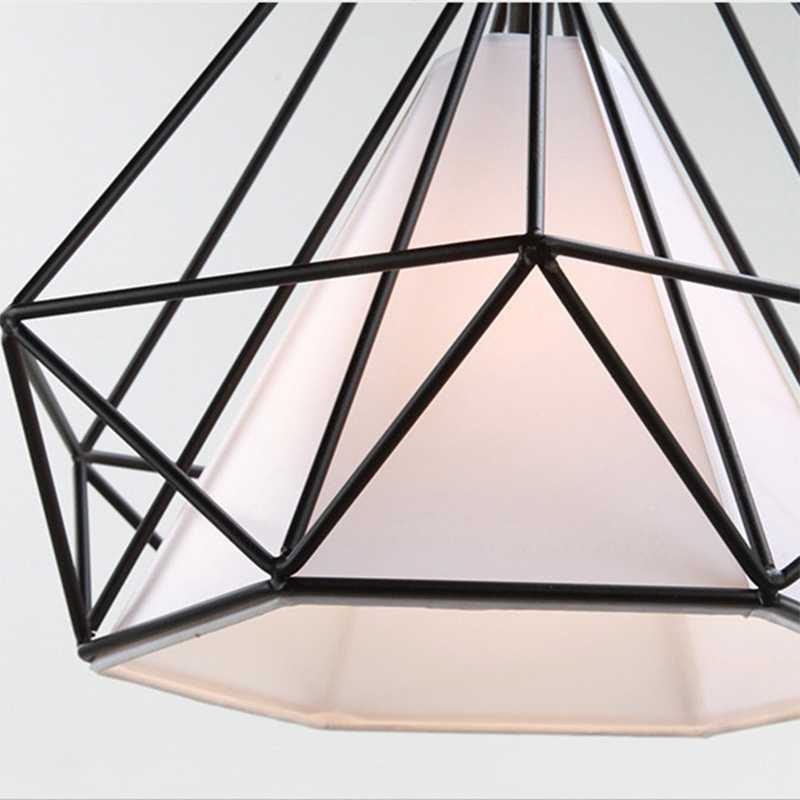 GZMJ современный металлический светодиодный подвесной светильник Лофт Декор E27 клетка из железной проволоки подвесной светильник черный/белый/желтый/зеленый/красный