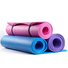 Retail 10mm Thick 3 Color NBR Yoga Mat Non-Slip Body Building Health Lose Weight Exercise Gym Household Cushion Fitness Pad