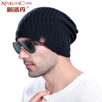 2017 Fall Men Winter Hat Knitted Five Star Cap Hollow Double Wear Women Hats Unisex Beanie